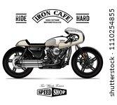 vintage cafe racer poster | Shutterstock .eps vector #1110254855