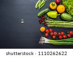 fresh vegetables and fruits... | Shutterstock . vector #1110262622