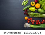 fresh vegetables and fruits... | Shutterstock . vector #1110262775
