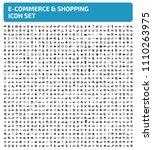 e commerce and shopping vector... | Shutterstock .eps vector #1110263975