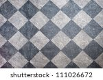 Tiled Floor In Black And Gray...