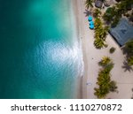 aerial view of a caribbean... | Shutterstock . vector #1110270872