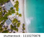 aerial view of a caribbean... | Shutterstock . vector #1110270878