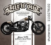 vintage chopper motorcycle...   Shutterstock .eps vector #1110278102