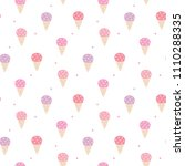 Seamless Pattern Of Ice Cream...
