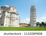 the pisa tower of italy is a... | Shutterstock . vector #1110289808