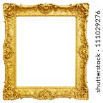 gold vintage frame isolated on... | Shutterstock . vector #111029276
