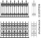 wrought iron modular railings... | Shutterstock .eps vector #111029336