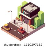 vector isometric copy and print ... | Shutterstock .eps vector #1110297182