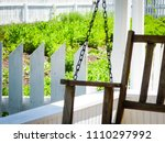 porch swing with garden and... | Shutterstock . vector #1110297992