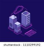 network hosting solutions ... | Shutterstock .eps vector #1110299192