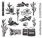 sugar cane  sugarcane plant...   Shutterstock .eps vector #1110299216