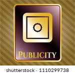 gold badge or emblem with... | Shutterstock .eps vector #1110299738