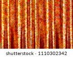 a closeup of a silk fabric... | Shutterstock . vector #1110302342