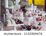 delicious sweets on candy... | Shutterstock . vector #1110304676