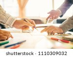 two businessman investment... | Shutterstock . vector #1110309032