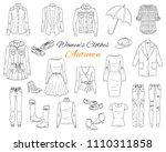 female fashion set. women's... | Shutterstock .eps vector #1110311858