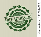 green free admission... | Shutterstock .eps vector #1110316622