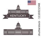 state of kentucky. capitol...   Shutterstock .eps vector #1110321548