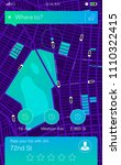 concept of location service.... | Shutterstock .eps vector #1110322415