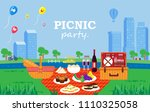illustration vector flat... | Shutterstock .eps vector #1110325058