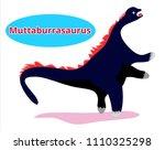 cute dinosaur muttaburrasaurus... | Shutterstock .eps vector #1110325298