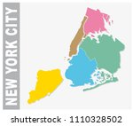 colorful new york city... | Shutterstock .eps vector #1110328502