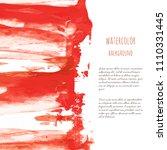 vector bloody red  rose... | Shutterstock .eps vector #1110331445