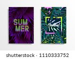 summer tropical background... | Shutterstock .eps vector #1110333752