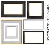 set of vintage frame isolated... | Shutterstock . vector #111033386