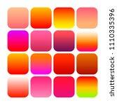 mobile app icon templates set.... | Shutterstock . vector #1110335396