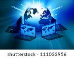 global computer network on...   Shutterstock . vector #111033956