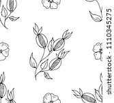 hand drawn seamless pattern of... | Shutterstock .eps vector #1110345275