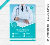 health care cover template... | Shutterstock .eps vector #1110353498