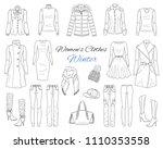 female fashion set. women's... | Shutterstock .eps vector #1110353558