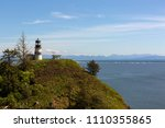 cape disappointment lighthouse... | Shutterstock . vector #1110355865