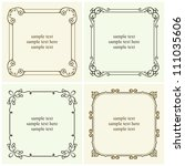 vector decorative text frames | Shutterstock .eps vector #111035606