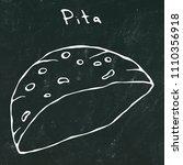 black board background. pita...   Shutterstock .eps vector #1110356918