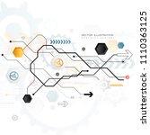 technology design gear wheel... | Shutterstock .eps vector #1110363125