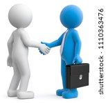 3d illustration male greeting... | Shutterstock . vector #1110363476