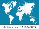 world map vector | Shutterstock .eps vector #1110365885