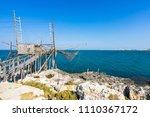 trabucco of molinella near...   Shutterstock . vector #1110367172