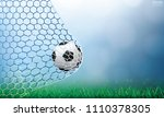 soccer football ball in soccer... | Shutterstock .eps vector #1110378305