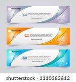 abstract header banner design... | Shutterstock .eps vector #1110383612