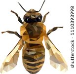 low poly bee  bee from... | Shutterstock .eps vector #1110393998