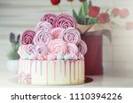 beautiful festive cake biscuit... | Shutterstock . vector #1110394226