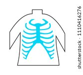 rib cage lungs heart liver... | Shutterstock .eps vector #1110416276