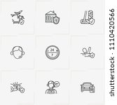 insurance line icon set with...   Shutterstock .eps vector #1110420566