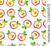 cute apple pattern. seamless...   Shutterstock .eps vector #1110423272