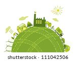 green world planet concept | Shutterstock .eps vector #111042506